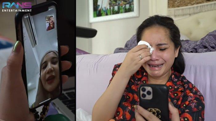 Nagita Slavinatak berhenti menangis menonton video lahiran Zaskia Sungkar.