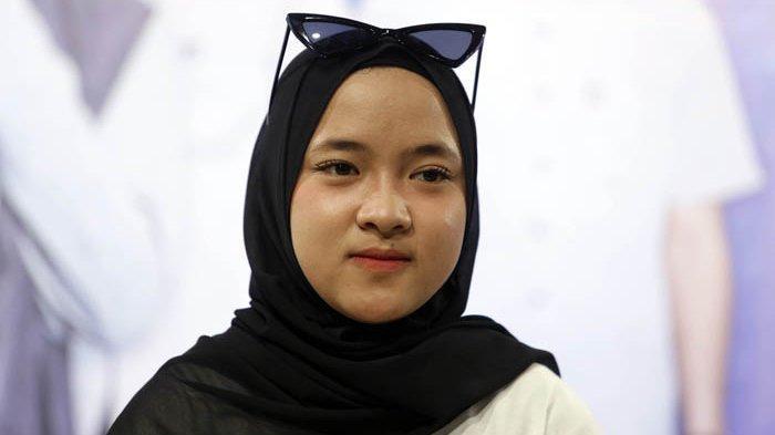 Nissa Sabyan saat ditemui di kawasan Kebayoran Baru Jakarta Selatan, Rabu (24/10/2018).