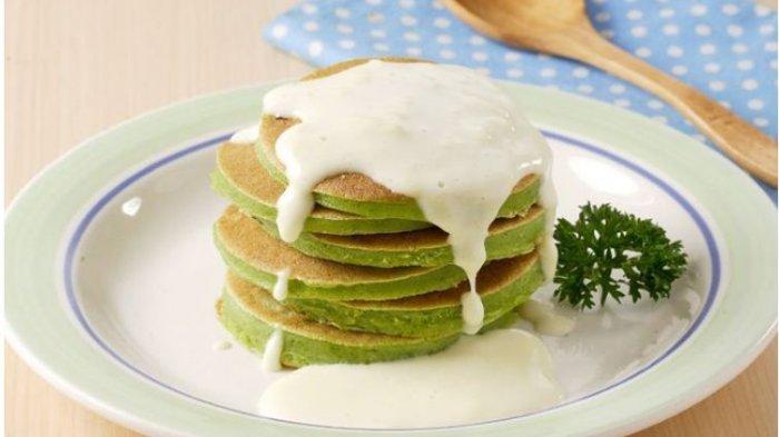Resep Buka Puasa Praktis Sajian Pancake, Pancake Bayam Saus Keju dan Pancake Kentang Bolognaise