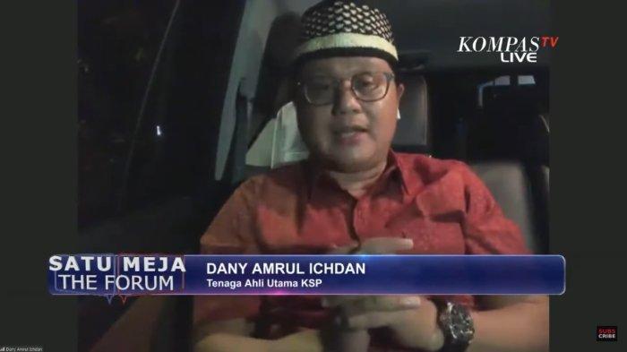 Dany Amrul Ichdan, staf ahli utama Kantor Staf Presiden tegaskan tidak ada impor beras di masa panen raya.