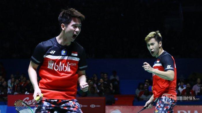 Final Japan Open 2019, Marcus/Kevin Juara setelah Kalahkan Ahsan/Hendra