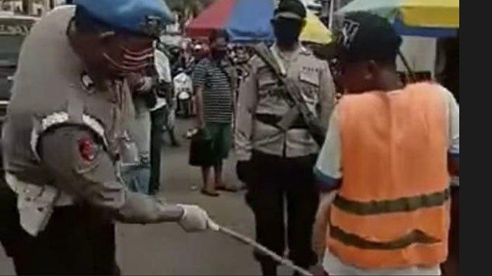 Videonya Viral, Begini Nasib 8 Polisi yang Pukuli Warga dengan Rotan karena Tidak Memakai Masker