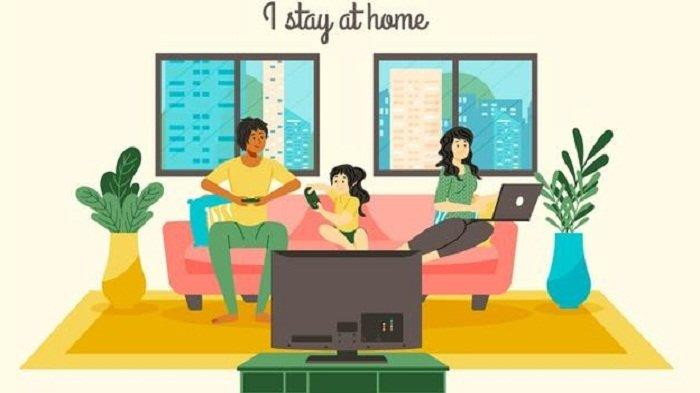 #dirumahaja Selama Wabah Corona, Ini 15 Poster Stay at Home yang Bisa Dibagikan ke Media Sosial