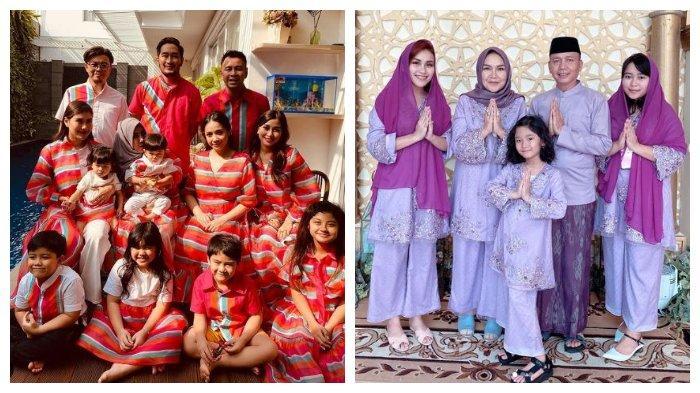 Kompak! Intip Potret Lebaran 10 Keluarga Selebriti Indonesia, Pakai Outfit Senada