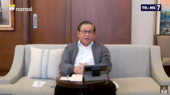 Sekretaris Kabinet, Pramono Anung saat hadir di acara Mata Najwa, Rabu (21/7/2021)