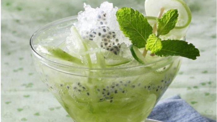Resep Minuman Segar di Musim Kemarau, Punch Timun Berbintik dan Es Mangga Markisa