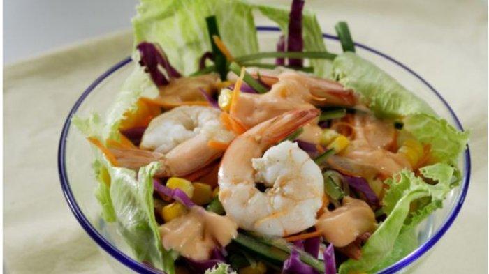 Resep Buka Puasa Praktis Sajian Seafood, Salad Sayur Udang dan Paella Seafood Platter