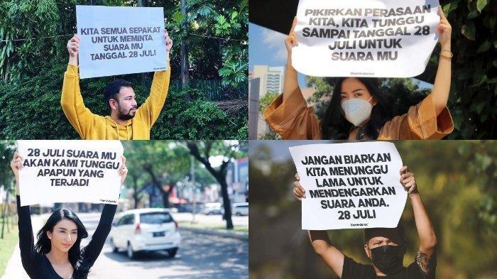 Ada Apa di Tanggal 28 Juli? Sejumlah Artis Turun ke Jalan Sambil Bawa Poster Singgung soal Bersuara