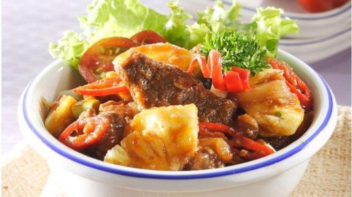 Resep Buka Puasa Praktis Sajian Tumis, Sengkel Masak Nanas dan Baby Buncis dan Tofu Siram Kungpao