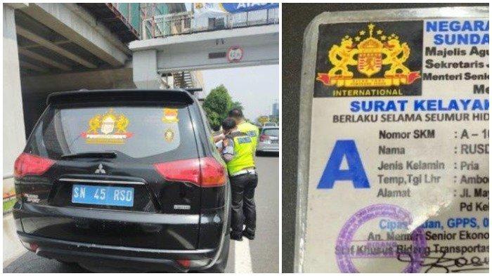 Viral Pengemudi Mobil Pajero dengan SIM Kekaisaran Sunda Nusantara, Ditilang dan akan Dites Kejiwaan