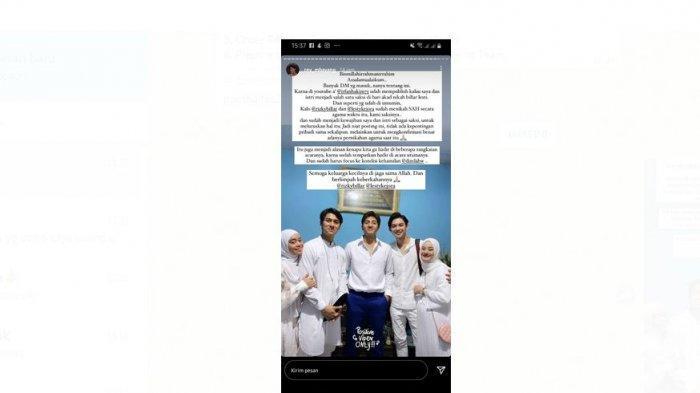 Tangkapan Layar Instagram Story Rey Mbayang saat Jadi Saksi Pernikahan Leslar