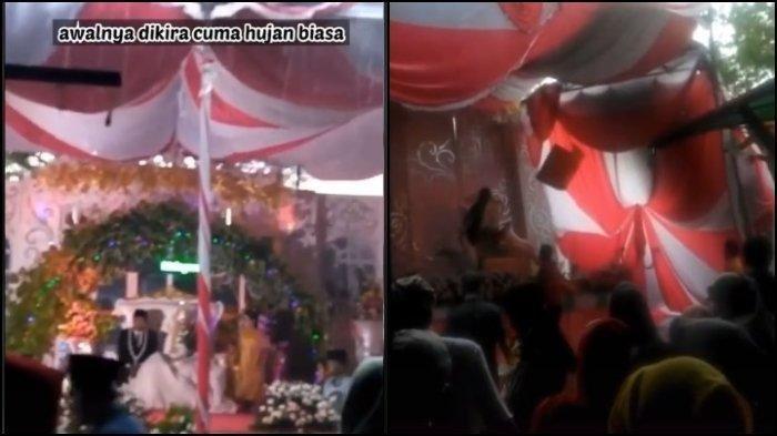 Viral Video Detik-detik Tenda Pernikahan Roboh Diterjang Angin Kencang, Pengantin Wanita Pingsan
