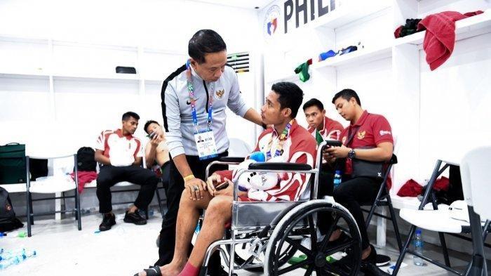Evan Dimas Dicederai di Final SEA Games 2019, Dokter Timnas Indonesia Diagnosis Alami Cedera Ini