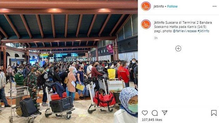 Viral Antrean Menumpuk di Soetta Tanpa Physical Distancing, Dibenarkan Pihak Bandara, Ini Faktanya