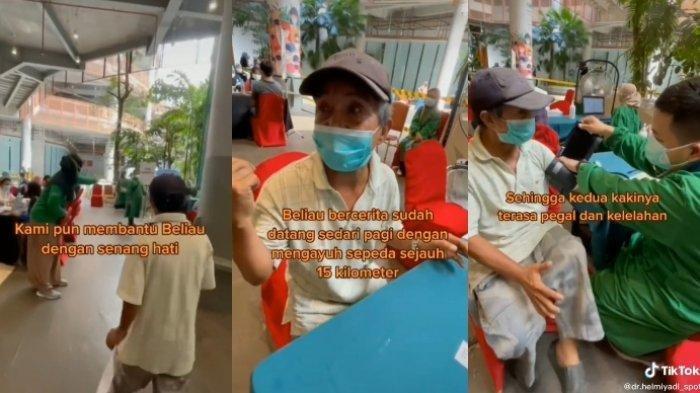 Viral Video Kakek asal Makassar Rela Bersepeda 15 Km demi Ikut Vaksin Covid-19, Pinjam Sepeda Teman