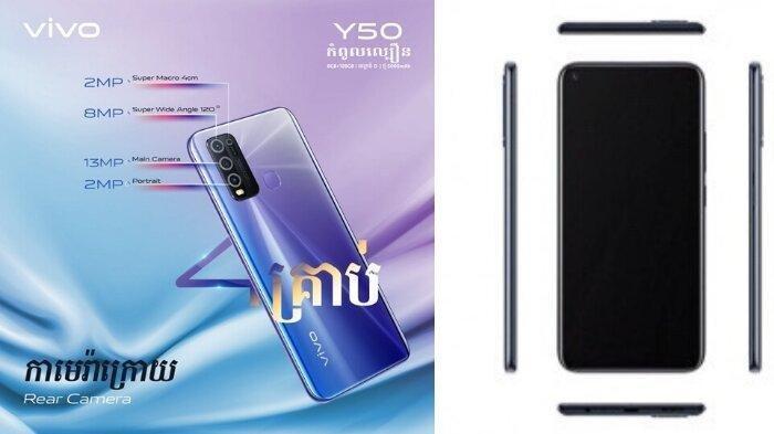 Dibanderol Seharga Rp 3,9 Juta, Vivo Y50 Terbaru Ditenagai Snapdragon 655 dan Baterai 5000 mAh