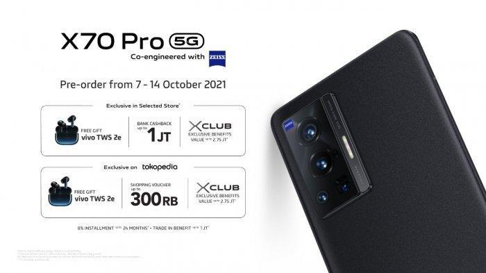 Resmi Meluncur di Indonesia, Ini Harga dan Spesifikasi Vivo X70 Pro, Dibekali Kamera ZEISS Optics