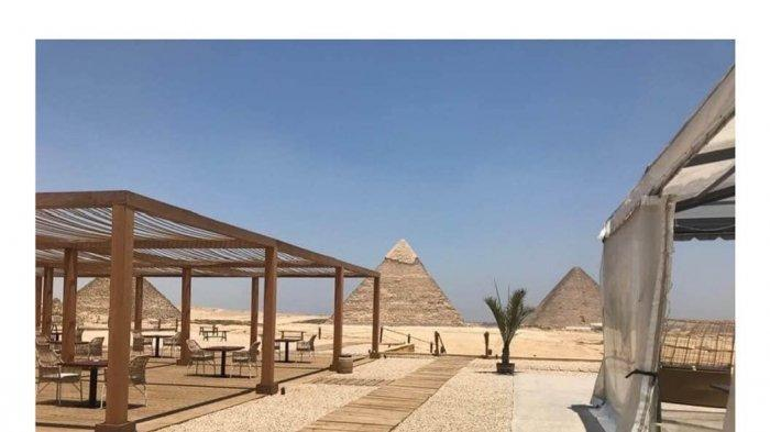 Potret 9 Pyramids Lounge, Restoran Terbaru di Mesir yang Ada di Kawasan Piramida Giza