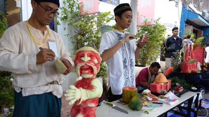 Cooking on the Street jadi Daya Tarik Wisata, Ada Lomba  Fruit Carving dan Flair Bartender