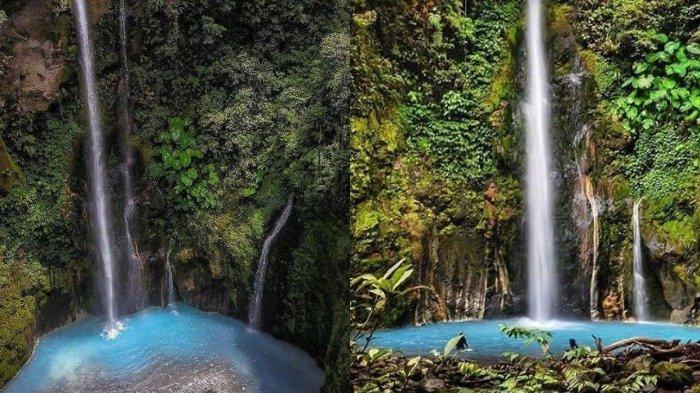 Beginilah Foto-foto Air Terjun Dua Warna di Sumatera Utara yang Terbentuk Secara Alami
