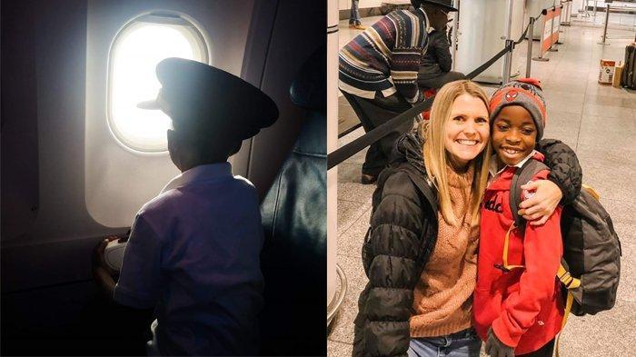 Ada Pandemi Covid-19, Pesawat Ini Terbangkan Anak Yatim untuk Bertemu Calon Orang Tua Angkatnya
