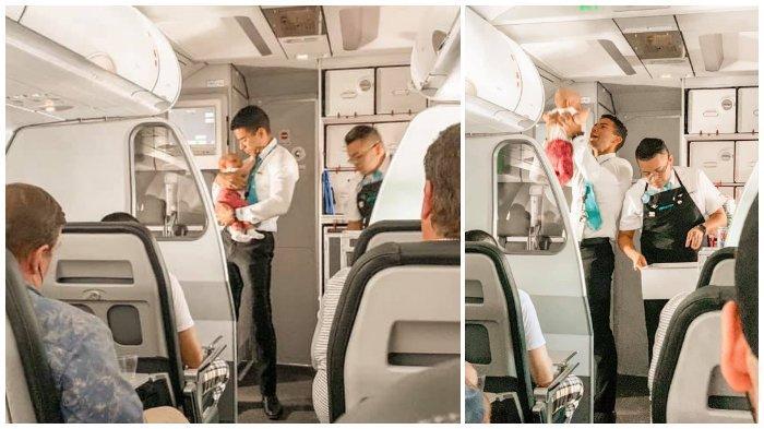 Aksi Pramugara Tenangkan Bayi Menangis di Pesawat Ini Bikin Adem