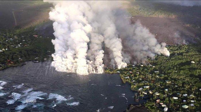 Nasib Danau Terindah di Hawaii, Menguap dan Hilang Akibat Aliran Lava Gunung Kilauea
