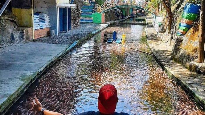 Aliran sungai yang mengalir di restoran dan tempat wisata Watergong, Klaten, Jawa Tengah.(dok. Watergong)