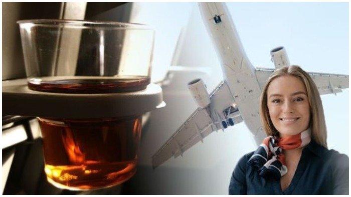 Ilustrasi larangan meminum alkohol di dalam pesawat saat melakukan penerbangan jarak jauh