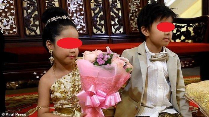 Anak kembar berusia 6 tahun di Thailand menikah untuk menghindari nasib buruk di masa depan