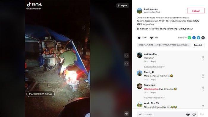 Viral Angkringan Drive Thru di Rembang Akibat Imbas PPKM Darurat, Beli Harus Naik Sepeda Motor