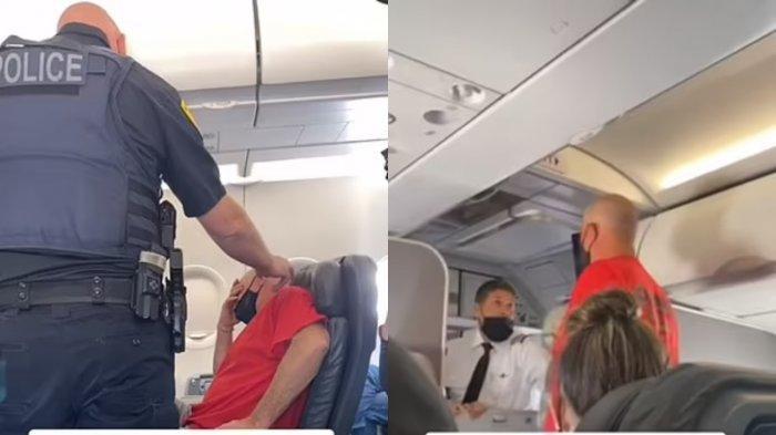 Armstrong yang sedang berdebat dengan awak pesawat