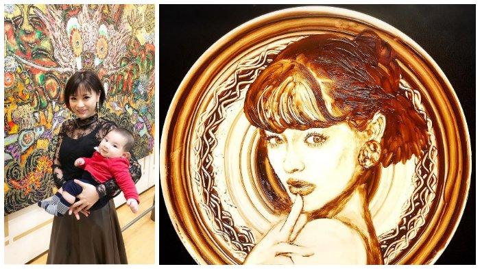 Norico, Seniman Jepang Berbakat yang Membuat Lukisan dari Lelehan Cokelat di Atas Piring Bundar