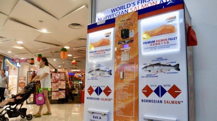 Unik, Singapura Punya ATM Daging Salmon Pertama di Dunia, Lebih Praktis dengan Sistem Cashless