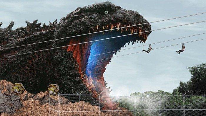 Taman Hiburan Ini Hadirkan Atraksi Godzilla dengan Replika Monster Raksasa