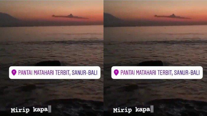 TRAVEL UPDATE: Viral di Medsos, Video Awan di Bali Terlihat Mirip Kapal Selam KRI Nanggala-402