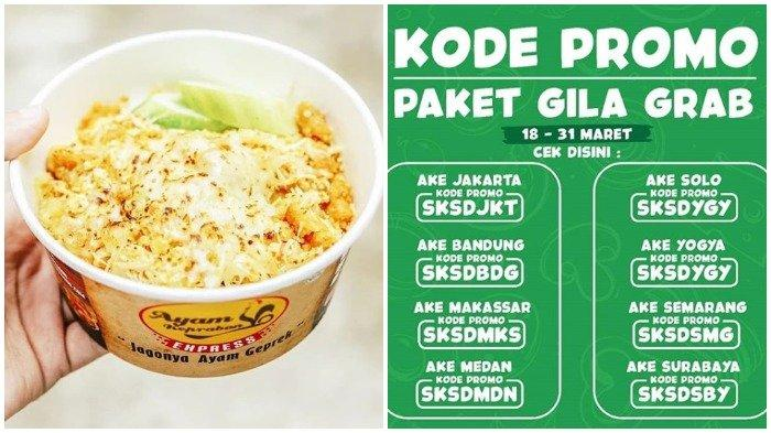 Promo Maret 2019 Ayam Keprabon Tawarkan Double Promo Seru Lewat Aplikasi Grabfood Cek Kodenya Tribun Travel