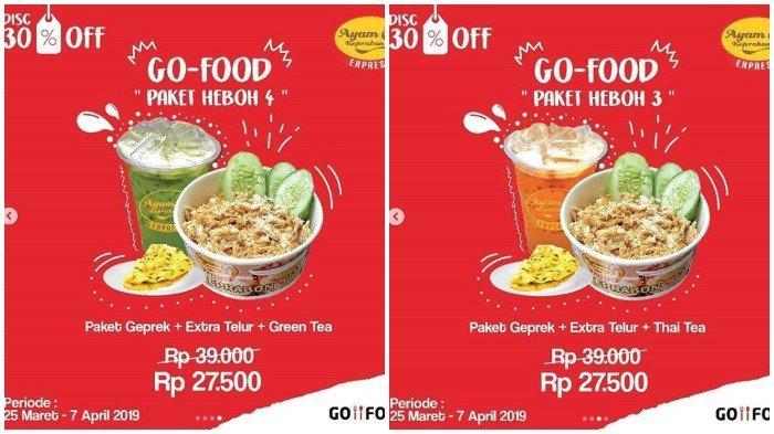 Promo Heboh 2019, Ayam Keprabon Tawarkan Diskon 30 Persen dengan Pembelian Via GoFood