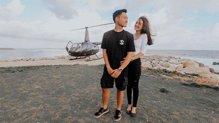 Liburan di Bali, Azriel Hermansyah Sewa Helikopter untuk Rayakan Anniversary dengan Sang Pacar