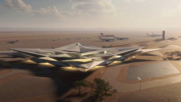 Unik, Bandara di Arab Saudi Didesain Mirip Fatamorgana