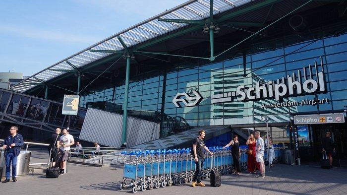 Suasana Bandara Schipol di Amsterdam, Belanda, Sabtu (26/5/2018).