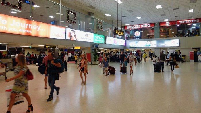 Bandaranaike International Airport, Sri Lanka.