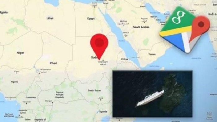 Viral di Medsos, Salah Satu Bangkai Kapal Terbesar di Dunia Terekam Kamera Google Maps