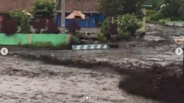 Viral di Medsos, Banjir Bandang Air Bercampur Lumpur di Kawasan Gunung Ijen, Bondowoso,