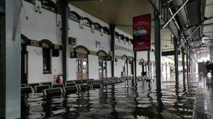 7 Perjalanan Kereta Api yang Terganggu karena Stasiun Tawang Semarang Terendam Banjir