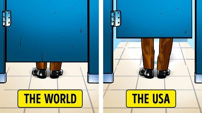 8 Hal yang Dianggap 'Aneh' Turis saat Berkunjung ke Amerika, Termasuk Tinggi Pintu Toilet Umum