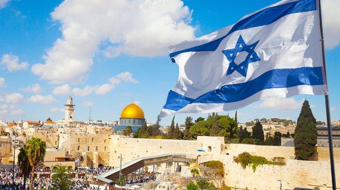 Bendera Israel di Yerusalem