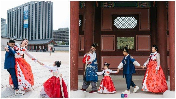 Liburan Artis - 7 Potret Betrand Peto Pakai Hanbok di Istana Gyeongbokgung Korea Selatan