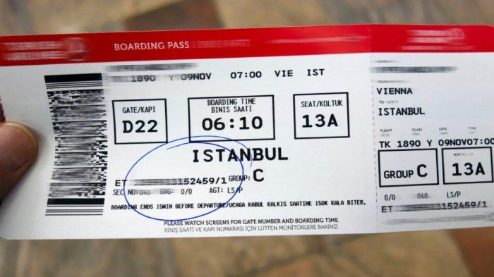 Ilustrasi boarding pass