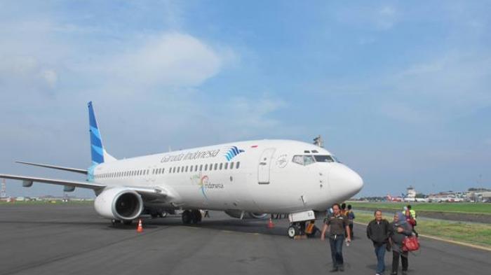 Miris! Tangga Apron Terseret Jet Blast Garuda, Parkiran Pesawat di Bandara Semarang Jatuhkan Korban